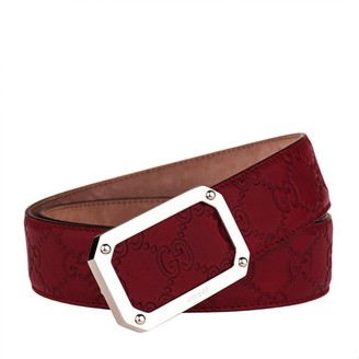 Gucci Red Leather Belts