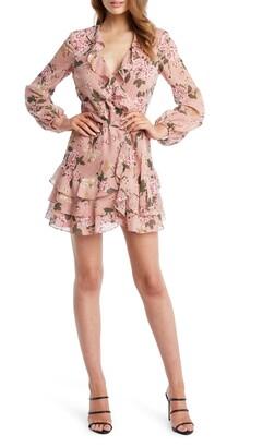 Bardot Frill Faux Wrap Minidress