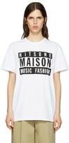 MAISON KITSUNÉ Ssense Exclusive White Maison 18 T-shirt