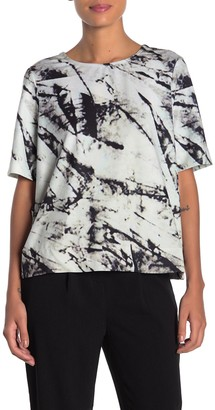 Frnch Marble Print Blouse