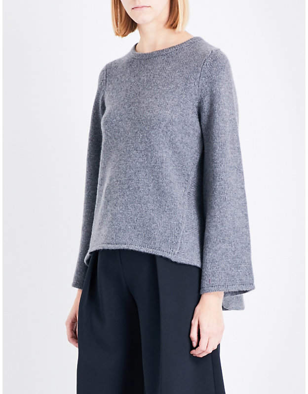 Co Dropped-hem knitted jumper