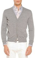 Tomas Maier Merino Cardigan Sweater, Light Gray