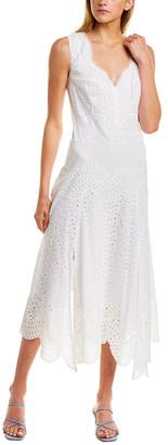 Rebecca Taylor Papillon V-Neck Midi Dress