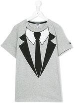 Karl Lagerfeld Teen tuxedo print T-shirt - kids - Cotton - 14 yrs