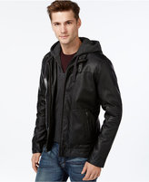 Buffalo David Bitton Big & Tall Bibbed Faux-Leather Jacket