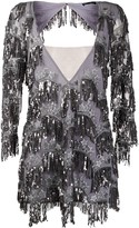 For Love & Lemons sequin fringe mini dress