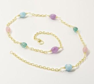 Judith Ripka Sterling or 14K Clad Verona Gemstone Necklace