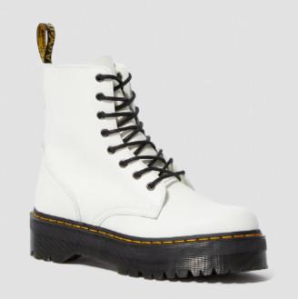 Dr. Martens White Polished Smooth Leather Jadon Platform Boots - 36   white - White/White