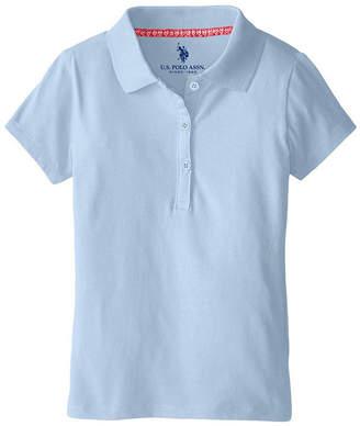 U.S. Polo Assn. USPA Short-Sleeve Stretch Knit School Uniform Polo - Preschool Girls 4-6x