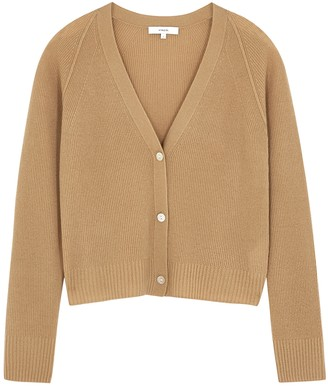 Vince Camel rib-knit cashmere cardigan