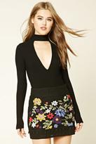 Forever 21 FOREVER 21+ Floral Crochet Mini Skirt
