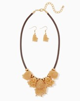 Charming charlie Artisanal Druzy Necklace Set