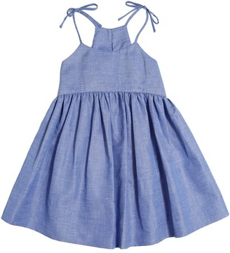 Milly Cotton & Linen Blend Chambray Dress