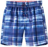 Carter's Boys 4-7 Plaid Swim Trunks
