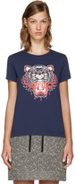 Kenzo - T-shirt bleu marine Tiger