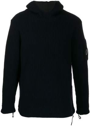 C.P. Company Lens ribbed-knit hoodie