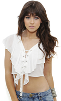 West Coast Wardrobe Dreamboat Crop Top in White