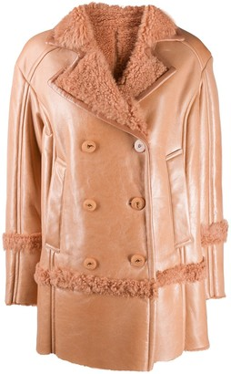 Drome shearling button-up coat