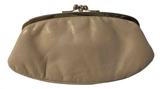 Non Signã© / Unsigned Beige Leather Purses, wallets & cases