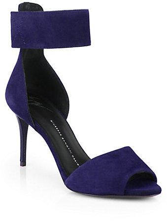 Giuseppe Zanotti Suede Ankle-Strap Sandals