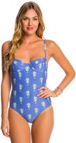 Kate Spade Champagne Reef Underwire One Piece Swimsuit 8147954