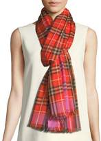 Burberry Vintage Check Wool-Silk Scarf