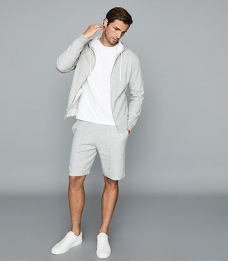 Reiss Berry - Jersey Shorts With Seam Detailing in Grey
