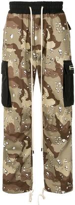 Daniel Patrick Camouflage Print Track Pants