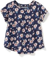 Old Navy Floral-Print Surplice-Back Top for Toddler Girls