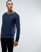 Esprit 100% Cotton Knitted Jumper With Raglan Sleeve