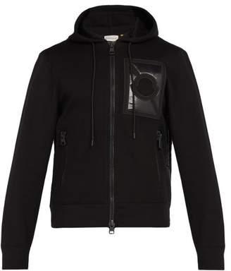 Craig Green 5 Moncler Logo Patch Hooded Zip Through Sweatshirt - Mens - Black