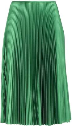 Cédric Charlier Pleated Satin Skirt