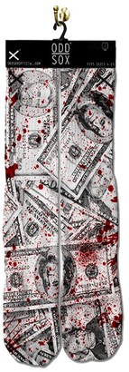 Odd Sox Unisex-Adult's Blood Money (Sublimated/Knitted Toe & Heel)