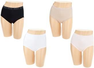 Breezies Set of 4 Nylon Microfiber Hi-Cut Panty