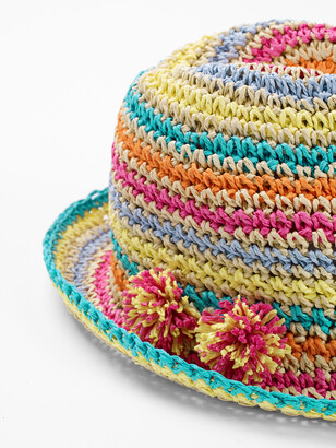 White Stuff Rainbow Stripe Hat