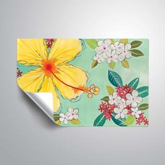 ArtWall Tropical Flower, Removable Wall Art Mural by Jennifer Peck