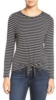 Amour Vert Women's 'Melinda' Stripe Tie Hem Top