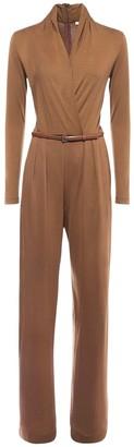 Max Mara Draped Jersey Jumpsuit