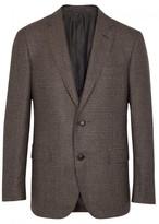Pal Zileri Brown Checked Wool Blazer