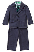 Class Club Little Boys 2T-7 Plaid Button-Down Shirt, Blazer, Pants, & Striped Tie 4-Piece Set
