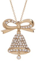 Nadri Pave CZ Embellished Bell Charm Necklace
