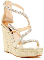 Badgley Mischka Catniss Platform Wedge Crystal Sandal