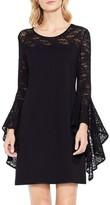 Vince Camuto Women's Handkerchief Lace Ponte Dress