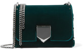 Jimmy Choo Lockett Petite Velvet Shoulder Bag - Emerald