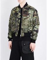 Givenchy Camo-print Shell Bomber Jacket