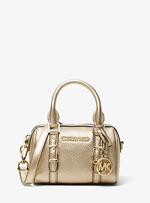 MICHAEL Michael Kors Bedford Legacy Extra-Small Metallic Leather Duffel Crossbody Bag