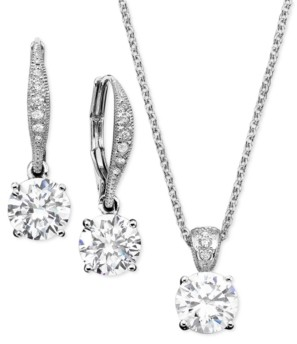 Eliot Danori Cubic Zirconia Solitaire Pendant Necklace and Matching Drop Earrings Set, Created for Macy's