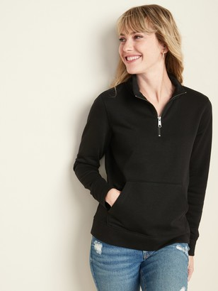 Old Navy Relaxed 1/4-Zip Mock-Neck Pullover for Women