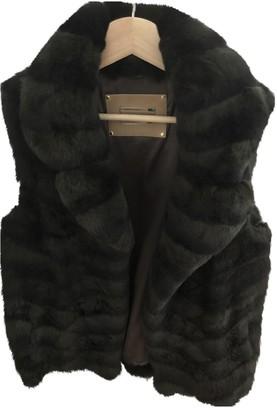Yves Salomon Green Fox Jacket for Women
