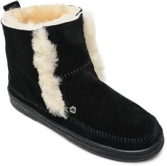 Minnetonka Women's Sheepskin Suede Boots - Jade